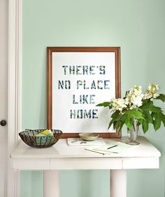 Reward a great quote (we cribbed from The Wizard of Oz) with the gallery treatment, courtesy of this project adapted from Meg Mateo Ilasco's Crafting a Meaningful Home.