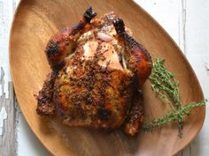 ROAST CHICKEN WITH BACON, GARLIC, LEMON & THYME