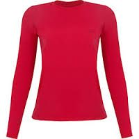 Image result for camisa vermelha manga comprida feminina