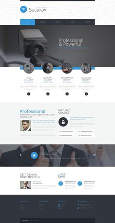 15+ Best Security Company WordPress Themes - Securax Security Systems (theme for WordPress) Item Picture