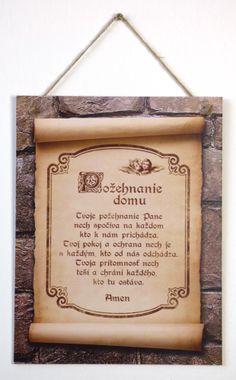 Požehnanie domu (tabuľka väčšia) - Originálna handmade tabuľka na zavesenie | Richard Honz | 10,57€ - obrázok