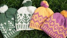 Free Imperial Yarn retro ski-hat patterns