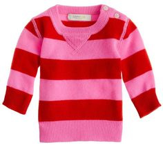 Collection Cashmere Baby Sweater In Stripe ($135) via Polyvore