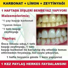 This post was discovered by Halime Avcı. Discover (and save!) your own Posts on Unirazi. Beauty Care, Beauty Skin, Health And Beauty, Beauty Hacks, Natural Cures, Natural Health, Make Teeth Whiter, Baking Soda And Lemon, Teeth Care