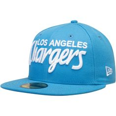 f5453860a25d4 Men's Los Angeles Chargers New Era Powder Blue Omaha Wordmark 59FIFTY  Fitted Hat, Your Price: $34.99