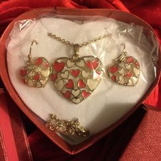 Floating Heart Necklace And Earrings Gift Set Beautiful 3 piece Floating Heart Necklace and Earrings set ! ❤️ This will make a special ❤️ gift boxes and ready to give!! Free gift with purchase  Avon Jewelry Necklaces