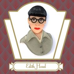 Edith Head Vintage Inspired Novelty Brooch by Tangerine Menagerie