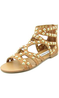 Steve Madden Women's Culver Gladiator Flat Sandals, Tan, Size 6.0 Best Price
