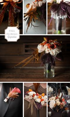 october wedding colors | fall flowers bouquets, real weddings inspiration boards ideas and ...