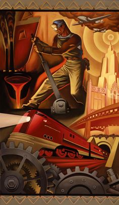 Dieselpunk Encyclopedia is happy to present: Tim Huhn and his Art Deco Series. On the Just Looking Gallery website there is a short info about the artist: After graduating from the prestigious Cali… Posters Vintage, Art Vintage, Retro Poster, Photo Vintage, Art Deco Posters, Retro Art, Art Deco Artwork, Art Art, Art Deco Illustration