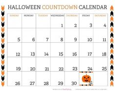 Print out the Halloween Countdown Calendar page and hang it up on your wall, so you can add the cobwebs with the passing of each day. See more party ideas and share yours at CatchMyParty.com #catchmyparty #partyideas #freeprintable #halloweencountdowncalendar #printablehalloweencountdowncalendar Halloween Chalkboard, Halloween Countdown, Halloween Party Favors, Halloween Celebration, Halloween Printable, 2014 Calendar Printable, Countdown Calendar, Holiday Calendar, Calendar 2014