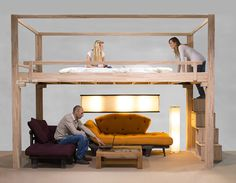 Bed Rising Sleeping loft furniture, RISING
