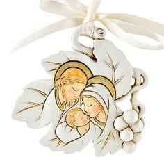 Colgante Hoja Sagrada Familia 5 cm Nativity Ornaments, Disney Characters, Fictional Characters, Disney Princess, Christmas, Amor, Souvenir, Sagrada Familia, Beautiful Pictures