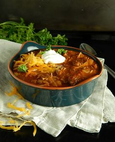 Barbecue Chicken Chili - Frugal Hausfrau