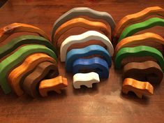 Polar Bear Handmade Cedar Stacking or Nesting Puzzle with