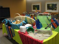 office summer party ideas. beach inspired office | we can provide a nice buffet with summer party ideas