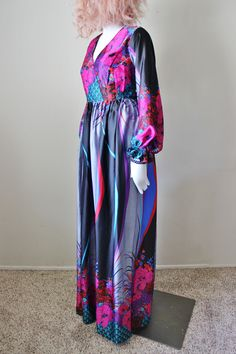A personal favorite from my Etsy shop https://www.etsy.com/listing/595213235/vintage-maxi-dress-1960s-floral-empire