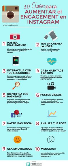 10 claves para aumntar el engagement en Instagram #infografia
