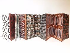 Recent Concertina Book sent to Newcastle Regional Gallery, NSW for group textile show on late November through till February. Concertina Book, Accordion Book, Book Cover Art, Book Art, Artist's Book, Handmade Journals, Handmade Books, Cool Journals, Mark Making