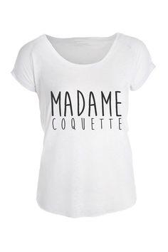 T-shirt MADAME pour femme - taille S à XL   Texte au choix   fa4eb233c8db