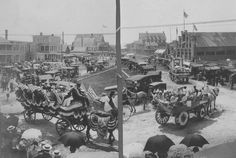 July 4, 1913.  Parade in Rehoboth Beach, Delaware.  From the Purnell Collection at the Delaware Public Archives.