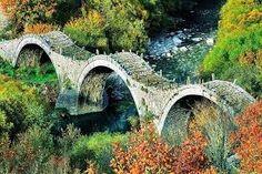 Old Kalogeriko triple arched stone bridge on Vikos canyon, Zagorohoria, Greece Greece Tours, Greece Travel, Old Bridges, Greek Beauty, Go Greek, Seven Wonders, World Traveler, Southeast Asia, Wonders Of The World