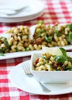 Need a quick, unique and delicious side dish? Try this Italian Pesto Pasta Salad! Get the recipe on BHG's Delish Dish:  http://www.bhg.com/blogs/delish-dish/2013/08/21/italian-pesto-pasta-salad/