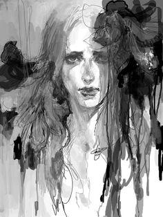 sackcloth and ashes - Demian Asche Manga Art, Manga Anime, Art Sketches, Art Drawings, Arte Cyberpunk, Art Graphique, Pretty Art, Aesthetic Art, Dark Art