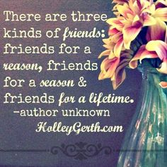 We can trust He'll bring friends alongside us for a reason, season or lifetime in the ways and times that are truly best. http://HolleyGerth.com