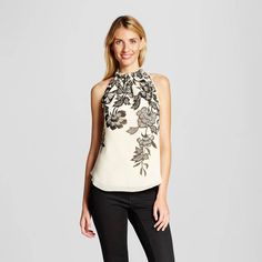 Women's Vines Printed Halter Neck Woven Tank - ISANI for Target. Image 1 of 2.