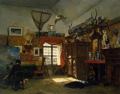 [ M ] Jean-Baptiste van Moer - Painter's Studio (1854)