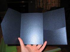 120 Pocketfolds for Under ... If You Dare :  wedding diy invitations stationery tutorial Img 09406