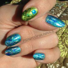 CND Shellac Nail Art - Mermaid Chic, Two Ways