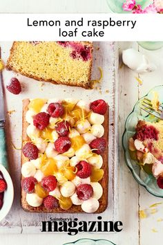 Strawberries And Cream, Raspberries, Lemon Loaf Cake, Blueberry Cheesecake, Cake Toppings, Let Them Eat Cake, So Little Time, No Bake Cake, Afternoon Tea