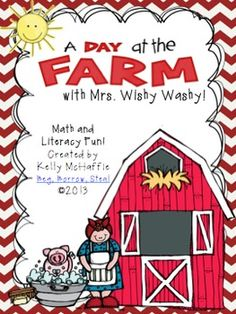 A Day at the Farm w/ Mrs. Wishy Washy!  Love teaching farm-themed units!