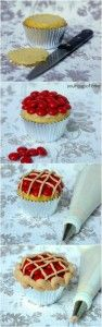 Cherry Pie Cupcakes! #desserts