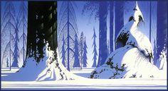 Winter - Eyvind Earle, 1981