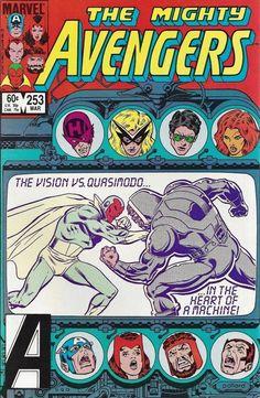 Marvel Comics The Mighty Avengers Vol 1 March 1985 Avengers Comics, Marvel Comic Books, Comic Book Characters, A Comics, Marvel Heroes, Comic Character, Comic Books Art, Comic Art, Book Art