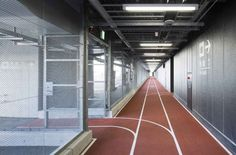Narita International Airport Terminal Three for budget airlines opens with running track design, Muji furniture Minimalist Architecture, Japanese Architecture, Interior Architecture, Architecture Wallpaper, Interior Design, Muji Furniture, Moving Walkway, Airport Terminal 3, Sports Office