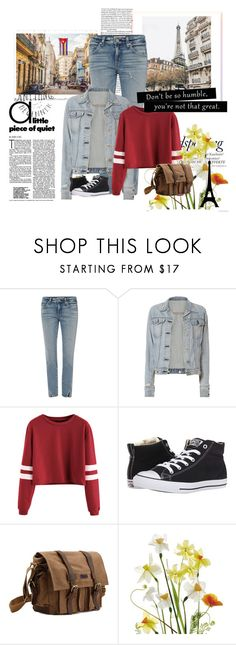 """""""Untitled #23"""" by fany-812 ❤ liked on Polyvore featuring AMO, rag & bone, Converse, Melissa and WALL"""