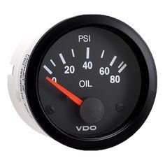 amazon com vdo 310901 cockpit style cylinder head temperature vdo vision black 80 psi oil pressure gauge use vdo sender 12v