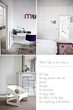 Belgian Home in White and Grey ♥ interesting concept for magazine storage