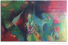 painting intuitive abstract art colorful