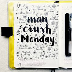 If I'm making lists, this is a must, right? #mancrushmonday #hobonichi #journal…