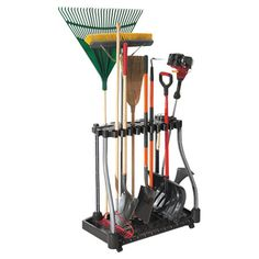 Effortlessly organize your garage or shed with this essential tool tower, offering storage for rakes, shovels, brooms, and more.  Pr...