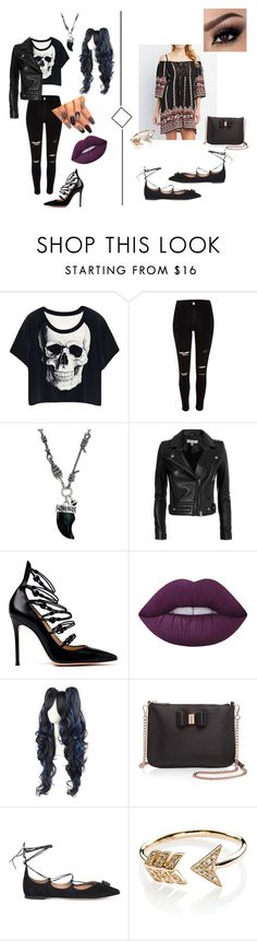 """Pretty Little........Opposites"" by layla-u ❤ liked on Polyvore featuring River Island, Vivienne Westwood, IRO, Gianvito Rossi, Lime Crime, Ted Baker, Salvatore Ferragamo and EF Collection"