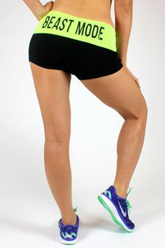 I want these shorts, but in either green or purple. (: