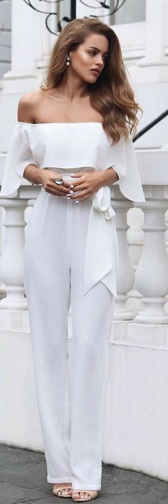 Ecstasy Models Stunning ellezeitounedesigns jumpsuit Fashion Look by Nada Adelle White Outfits, Classy Outfits, Cool Outfits, Casual Outfits, Fashion Outfits, Womens Fashion, Fashion Fashion, Dress Fashion, Daily Fashion
