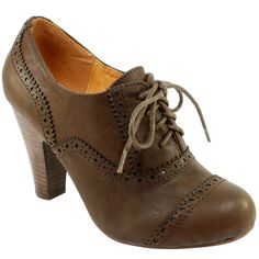 Womens High Heel Brogue Shoes