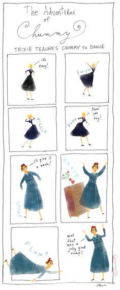 "Chummy dances! Awe! ""Call the Midwife"""